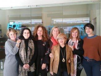 La Junta Directiva de la Asociación de Mujeres Empresarias de Huelva (AME) hace coincidir una de sus reuniones con el 8-M para visualizar a la mujer