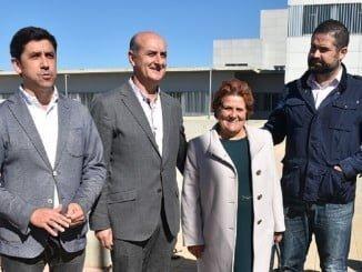 Los alcaldes de la costa occidental de Huelva, durante la visita a las obras del Chare de Lepe