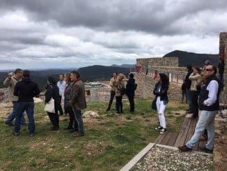Los empresarios han recorrido los puntos más turísticos de Aracena