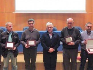 Foto de familia de las empresas premiadas por su alto grado de desempeño en seguridad