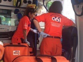 Los servicios sanitarios trasladaron a los heridos al Hospital Juan Ramón Jiménez