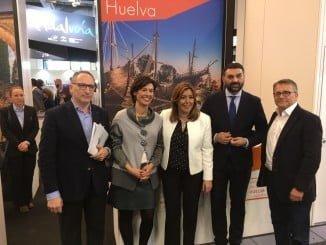 La delegación onubense del Patronato de Turismo de Huelva, en la  ITB Berlín