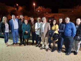 La alcaldesa y el resto de concejales del Equipo de Gobierno junto al juez Calatayud.