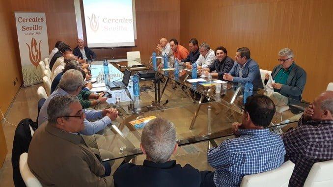 Reunión del Consejo Rector de Cocereales en el que aprobó la nueva imagen corporativa coincidiendo con su XXX Aniversario