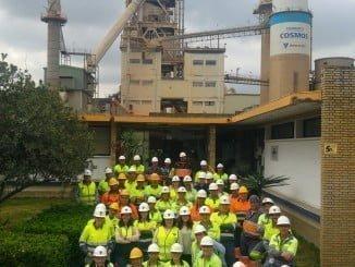 Seis años sin accidentes en la fábrica de Cemento de Niebla
