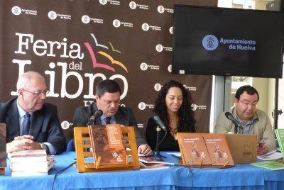 Presentación esta mañana, en las instalaciones de la Feria del Libro de Huelva, de las novedades editoriales de la UNIA