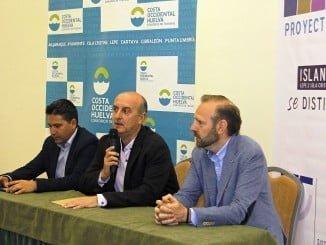 Momento de la inauguración del Encuentro Empresarial SICTED de la Costa Occidental de Huelva en Islantilla