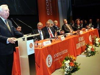 Las palabras de José Luis García Palacios fueron atentamente seguida por los asistentes porque dejó patente su compromiso con Huelva.