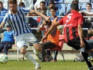 El Recre, gracias al gol de Antonio Domínguez, logra retener un punto en el Nuevo Colombino.