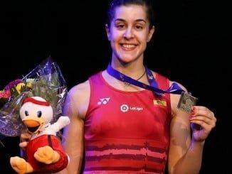 Carolina Marín,, con 23 años, logra su tercer Campeonato de Europa.