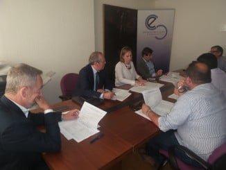 Reunión de la Comisión Ejecutiva de la Agrupación para las Infraestructuras de Huelva esta mañana