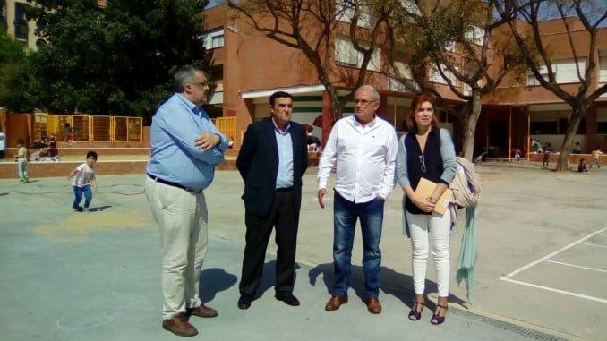 El delegado de Educación, Vicente Zarza, ha visitado las obras del García Lorca