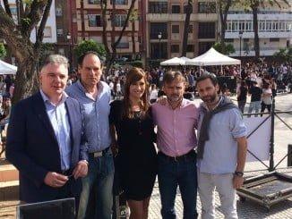El consejero de Medio Ambiente junto a otros responsable se la Junta en el 'SOCC Fiesta por el Clima'