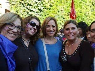 La socialista Carme Chacón en una visita a Huelva
