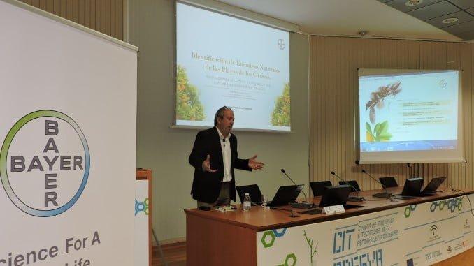 Más de cien profesionales de las principales empresas del sector citrícola de la zona de Huelva y del sur de Portugal, reunidas el 20 de abril en las instalaciones del Centro Tecnológico de la Agroindustria ADESVA