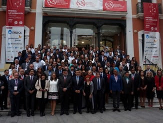 Foto de familia del grupo de autoridades iberoamericanas