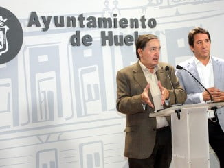 Enrique Figueroa y Ruperto Gallardo en rueda de prensa