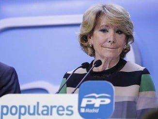 """Una emocionada Esperanza Aguirre ha confesado sentirse """"traicionada"""" y """"engañada"""""""