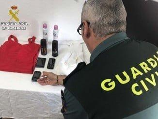 La Guardia Civil ha recuperado parte de los objetos sustraídos