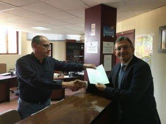 Francisco Ruiz ha presentado hoy su candidatura a la reelección de rector de la UHU