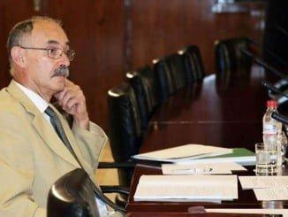 Justo Mañas en su comparecencia ante la Comisión de Investigación de los ERE