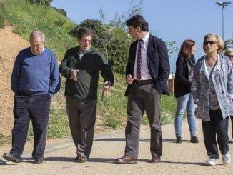 El concejal de empleo junto a miembros de la Comisión de Seguimiento del Parque Moret