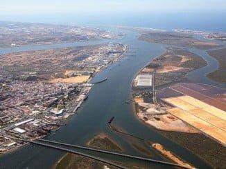 Imagen áerea del Puerto de Huelva