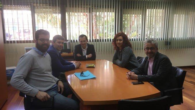 Reunión de representantes del Colegio de Peritos e Ingenieros técnicos con el delegado de Economía en Huelva