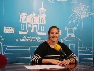 Rueda de prensa en la que Mª Carmen López ha dado a conocer la bolsa de monitores