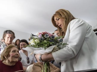 Susana Díaz ha visitado este jueves la localidad onubense de Hinojos