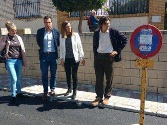 La delegada de Fomento y Vivienda, María José Bejarano, ha visitado las obras de la travesía