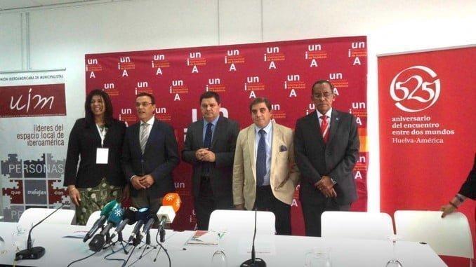 Presentación del XXII Encuentro Iberoamericano de Autoridades Locales que se celebra en Huelva