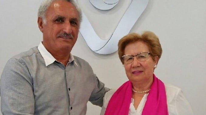 El acuerdo ha sido firmado por el presidente de la cooperativa, Márquez, y la presidenta de Afame, Elvira Rasco
