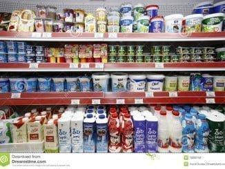 Productos lácteos en supermercados