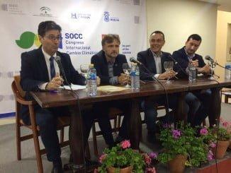 El consejero de Medio Ambiente ha hablado en Rociana del Congreso de Cambio Climático