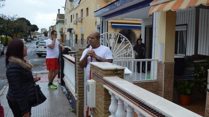 La alcaldesa de Punta ha visitado a los vecinos afectados por la lluvia