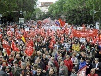 Retrospectiva de una manifestación del Primero de Mayo