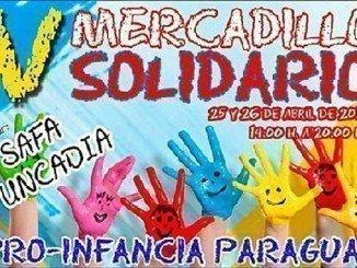 Cartel anunciador del mercadillo solidario