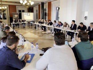 Rueda de prensa para presentar las novedades de la Capitalidad Gastronómica de Huelva en el trimestre venidero