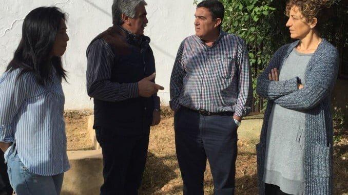 Visita de Vicente Zarza al Ceip Peralías Panduro de Corteconcepción