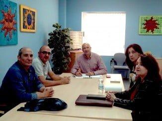Reunión del candidato García Machado con el Comité de los PDI.