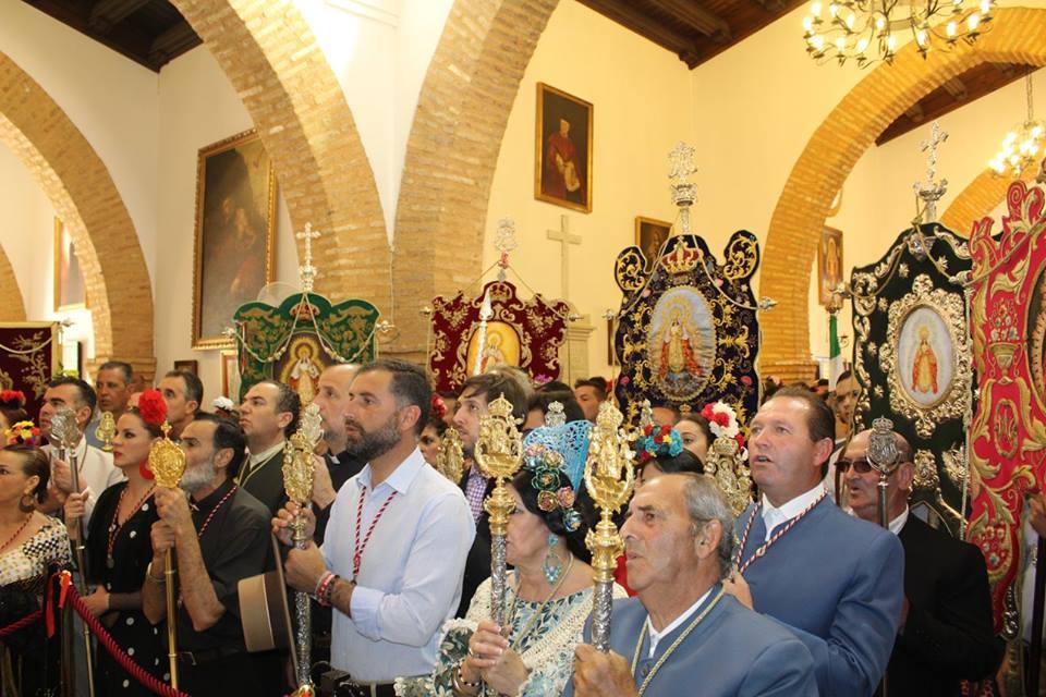 Presentación de las Hermandades filiales ante la Virgen de Montemayor.