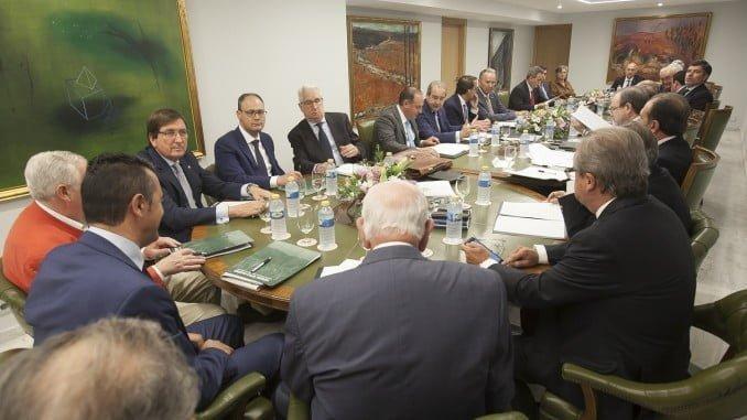 Reunión de la Junta Directiva de la Asociación de Cajas Rurales