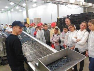 Durante la visita a Grufesa, los alumnos se conciencian del esfuerzo del trabajo de un sector clave para Moguer