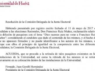 La Junta Electoral, compuesta de miembros de la candidatura de Paco Ruiz, ha prohibido las criticas que recibe desde la plataforma 'Novotesapacoruiz'.