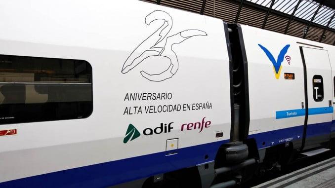El AVE celebra su 25 aniversario con la venta de billetes a 25 euros