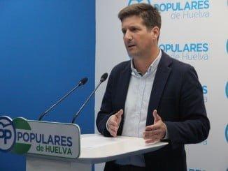 Rueda de prensa del parlamentario andaluz, Guillermo García Longoria