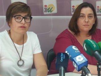 Isabel Lancha, de IU Nerva y Estrrella López, de UGT