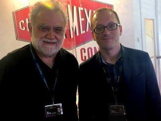 Ivan Trujillo y Manuel H Martín, en el stand de México en el Festival de Cannes