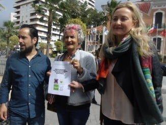 Jesús Amador, Pepa Beiras e Isabel Brito presentan alegaiones al proyecto de Fertiberia